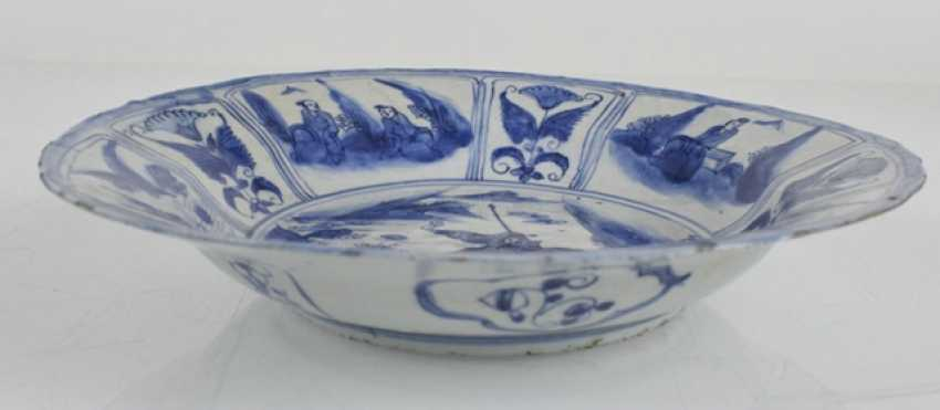 Kraak dish with a representation of Guanyu on his horse - photo 3