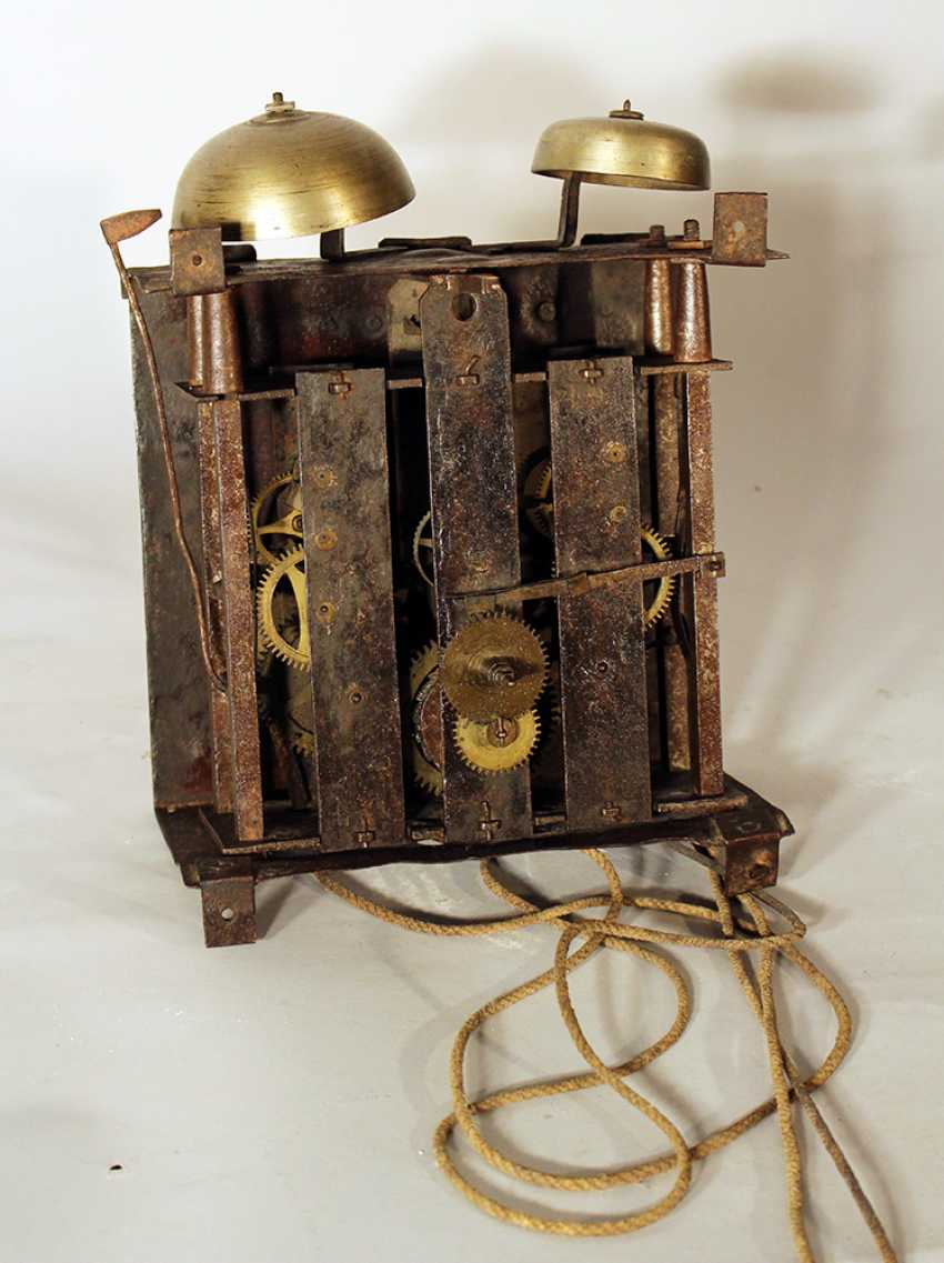 Clock movement with two bells and iron parts - photo 3