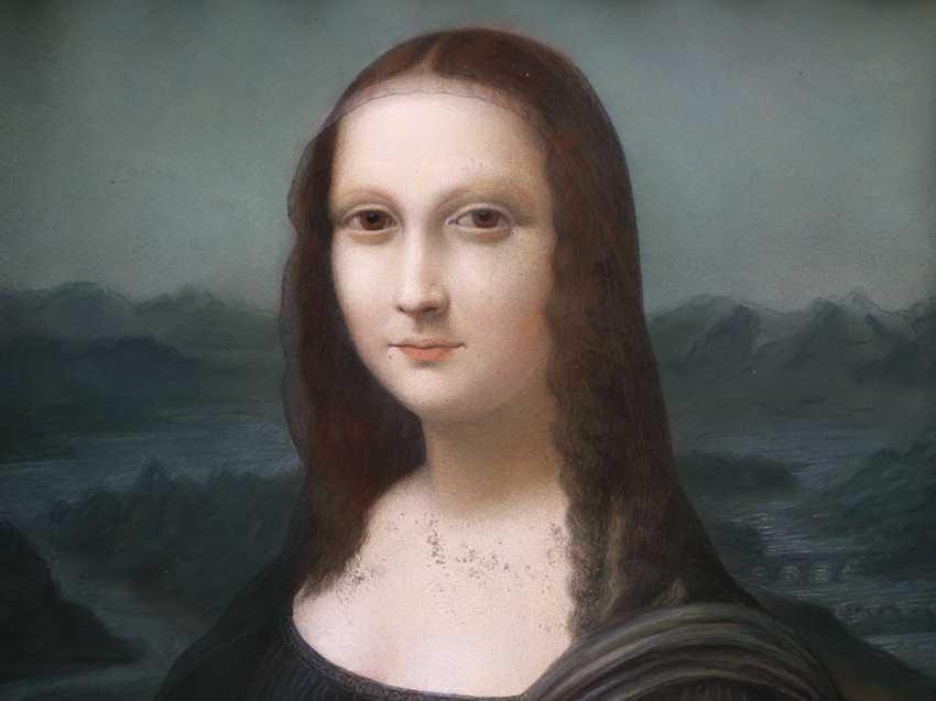 Leonardo da Vinci (1452-1519)-after, The Mona Lisa, pastel on paper, under glass - photo 3