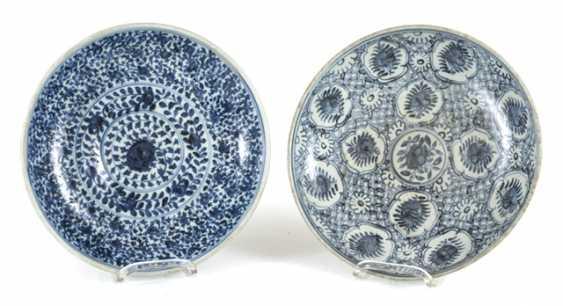 Five powder blue-glazed porcelain plate - photo 2