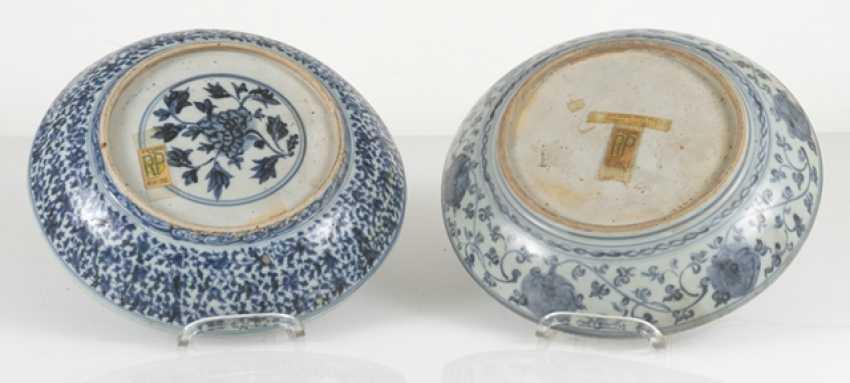 Five powder blue-glazed porcelain plate - photo 4