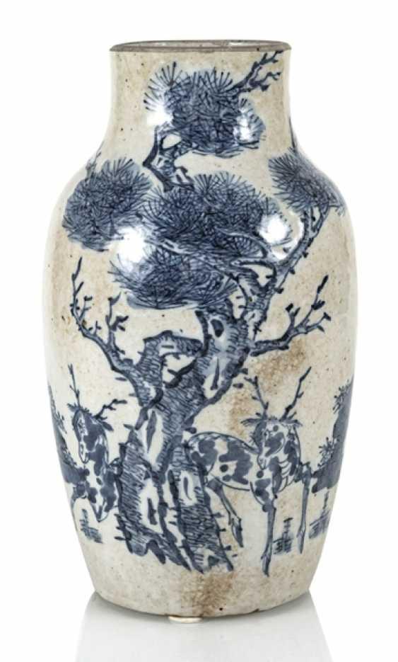 Porcelain vase with under glaze blue Qilin decor - photo 1