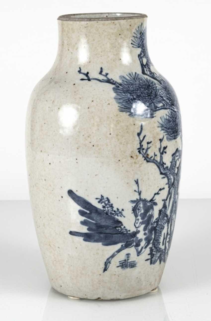Porcelain vase with under glaze blue Qilin decor - photo 2