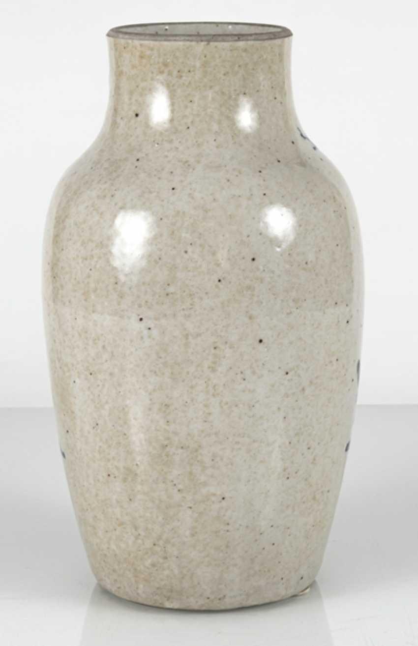Porcelain vase with under glaze blue Qilin decor - photo 3