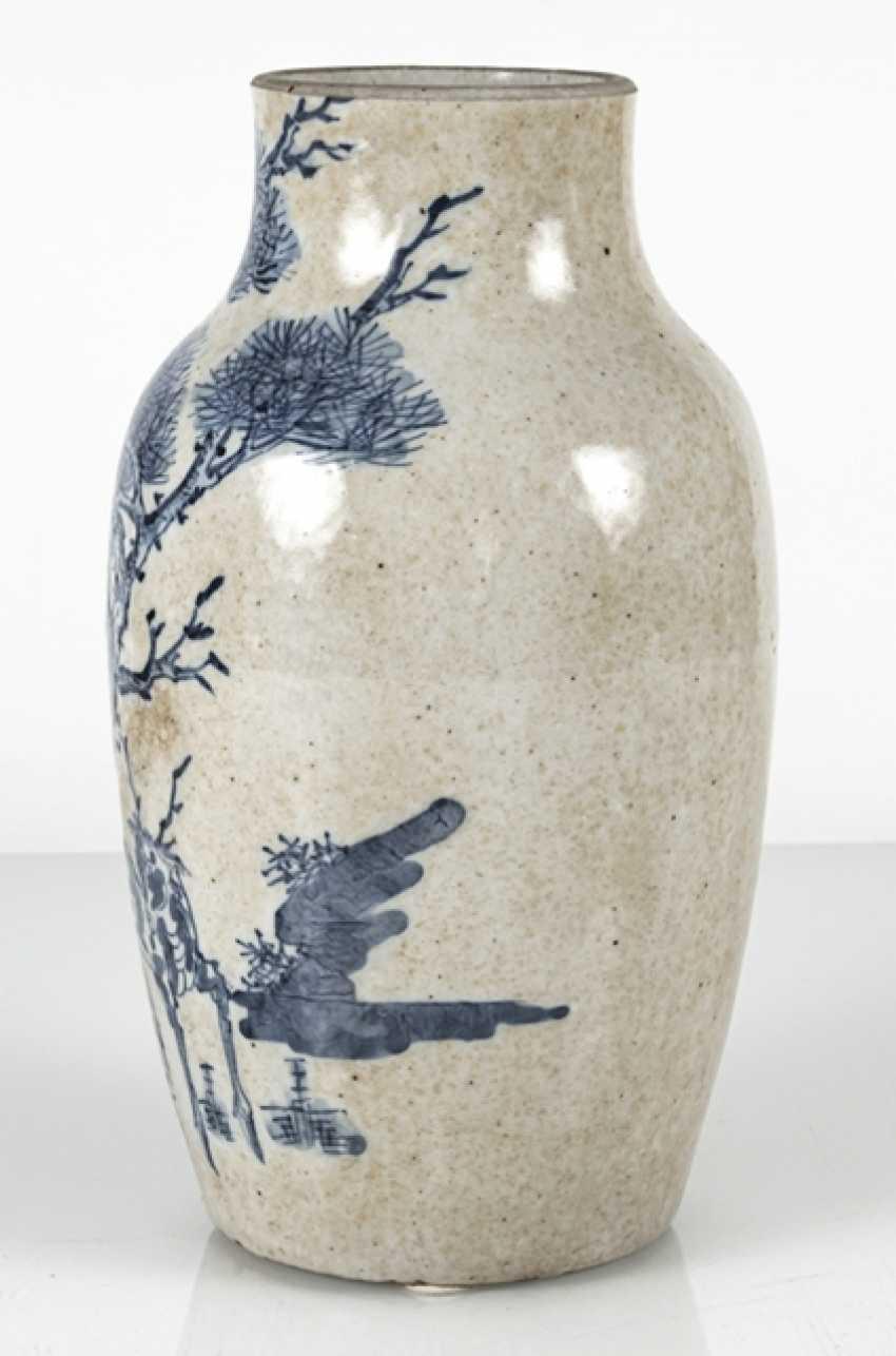Porcelain vase with under glaze blue Qilin decor - photo 4
