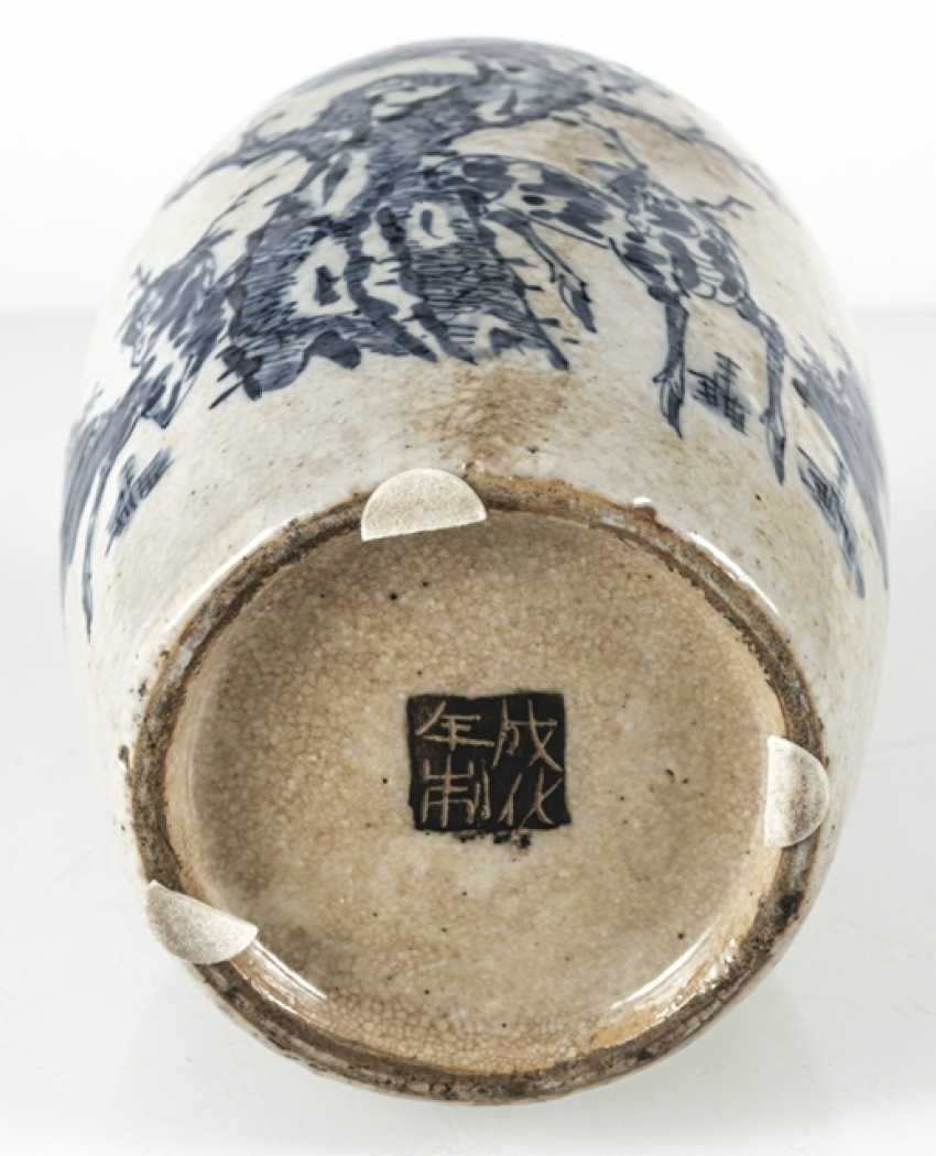 Porcelain vase with under glaze blue Qilin decor - photo 6