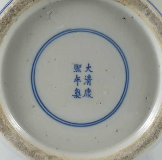 Under glaze blue decorated floor vase made of porcelain with a depiction of Su Shi and Qin Guan - photo 6