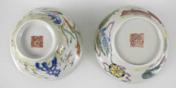 Group of porcelain, partly for Export, seven plates, four bowls - photo 2
