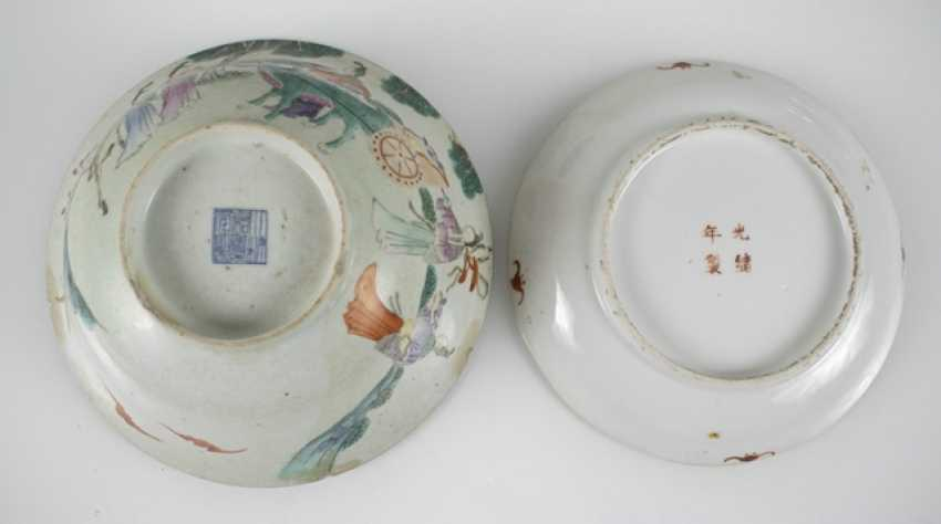 Group of porcelain, partly for Export, seven plates, four bowls - photo 3