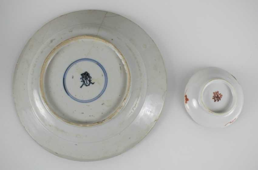 Group of porcelain, partly for Export, seven plates, four bowls - photo 4