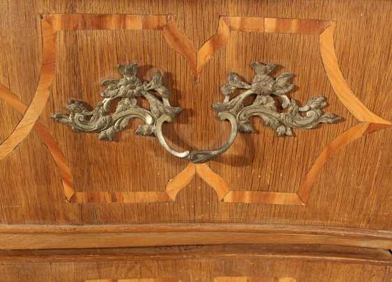 A Bohemian baroque commode, on four long legs with two drawers and shaped front - photo 3