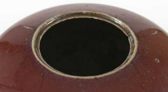 Cover vase with ox blood glaze - photo 3