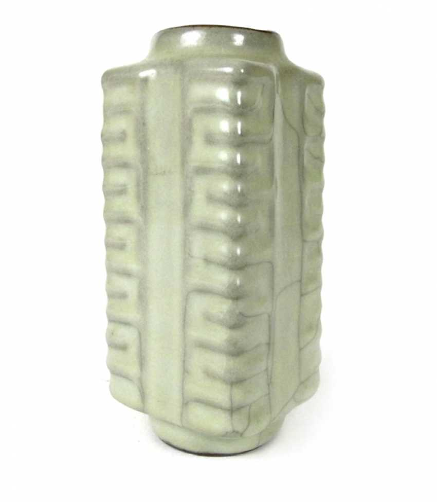 Small 'Cong'-shaped Vase with celadon glaze - photo 1