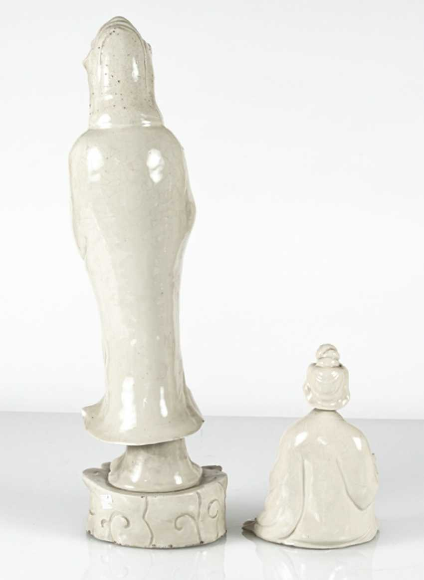 Two Guanyin sculpture, made of Dehua Ware - photo 3