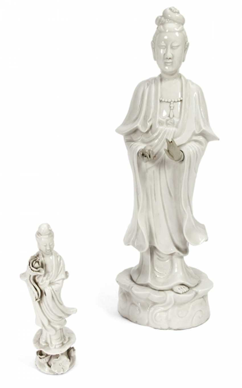 Two standing Guanyin from Dehua Ware - photo 1