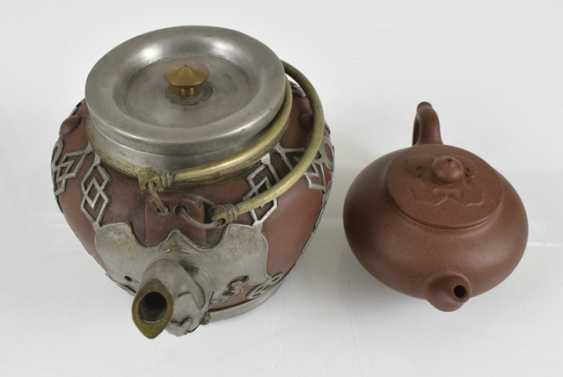 Two teapots made from Zisha-Ware, one with brass fittings - photo 2