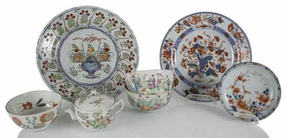 Porzellanteller to dre, to dre Schalen und eine Teekanne, u. a. the mit Imo-of their personality - photo 1