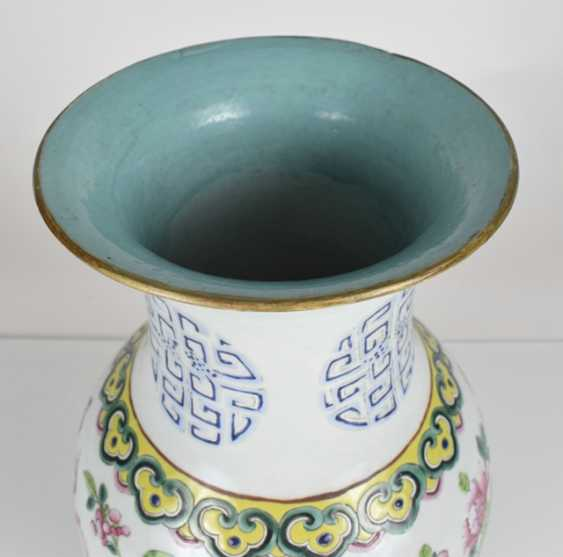 Pair of 'Famille rose'-vase with antique decor - photo 3