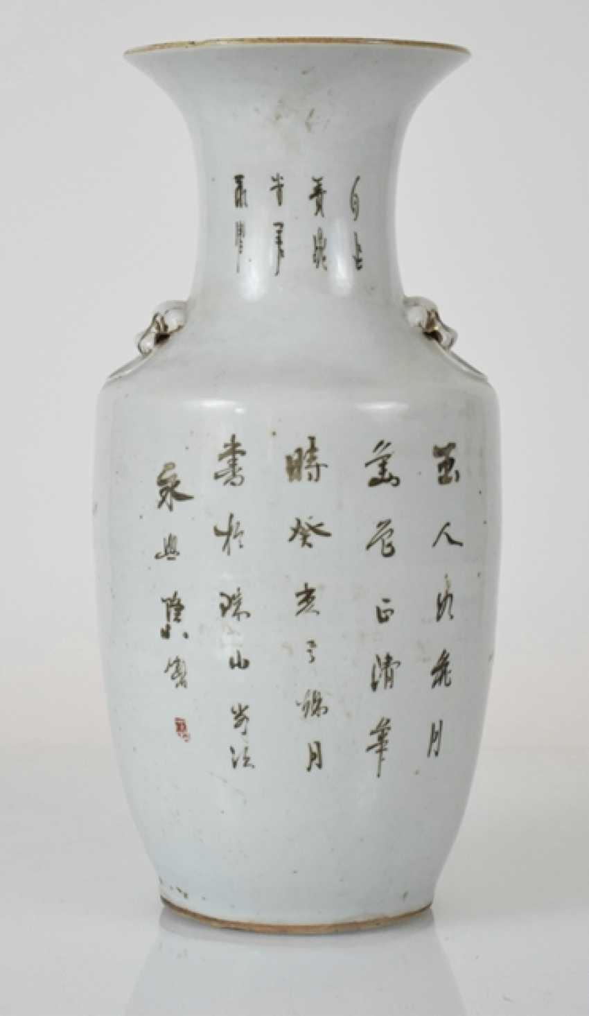 Porcelain vase with decoration of ladies in garden - photo 2