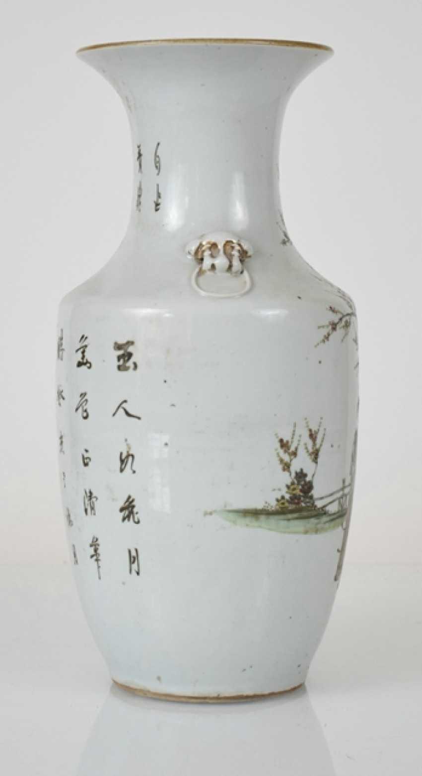 Porcelain vase with decoration of ladies in garden - photo 3