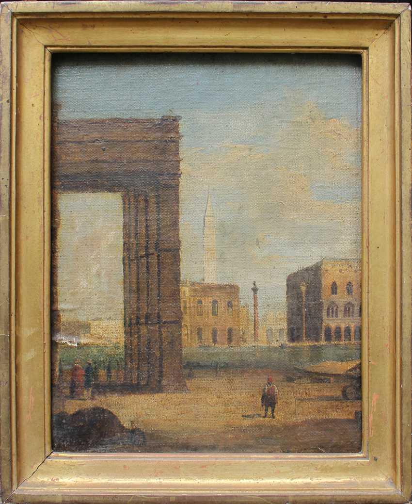 Venetian school around 1800, View from Santa Maria della Salute to the Saint Marc Square - photo 1