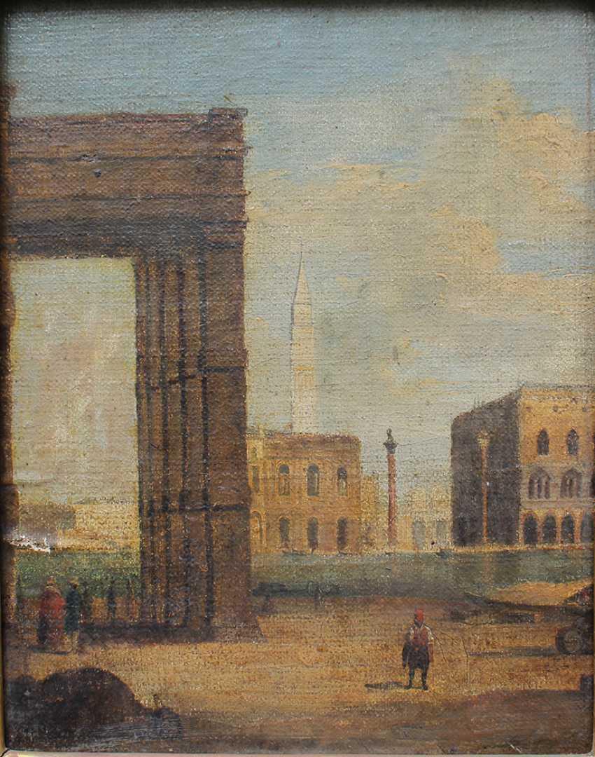 Venetian school around 1800, View from Santa Maria della Salute to the Saint Marc Square - photo 2