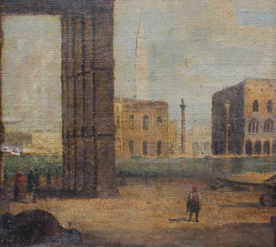 Venetian school around 1800, View from Santa Maria della Salute to the Saint Marc Square - photo 3