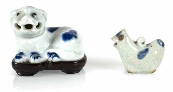 Two small porcelains in animal shape - photo 1