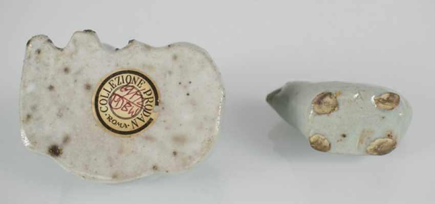 Two small porcelains in animal shape - photo 3