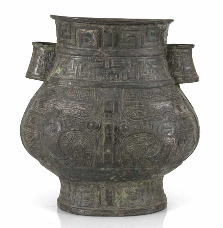 hu'shaped Vase made from Bronze in archaic style - photo 1