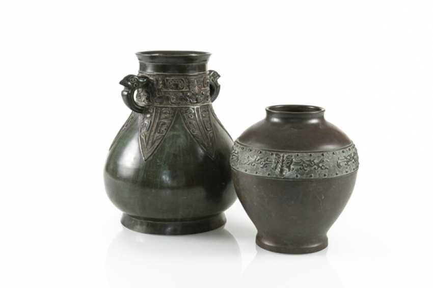 Two vases made of Bronze, with a silver Deposit - photo 1