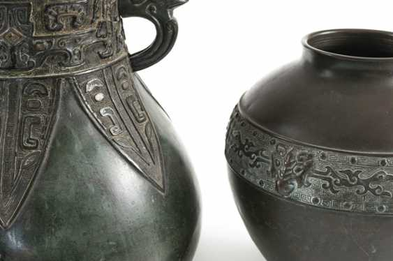 Two vases made of Bronze, with a silver Deposit - photo 3