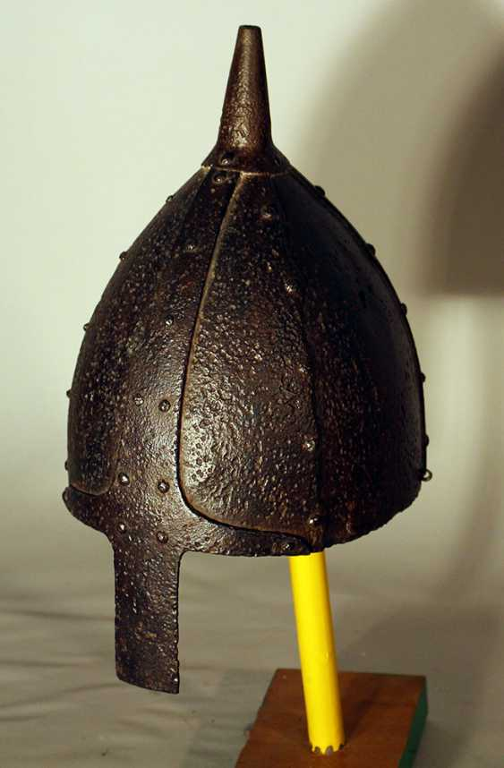 Ottoman warrior's iron helmet, forged, with nose protection - photo 2