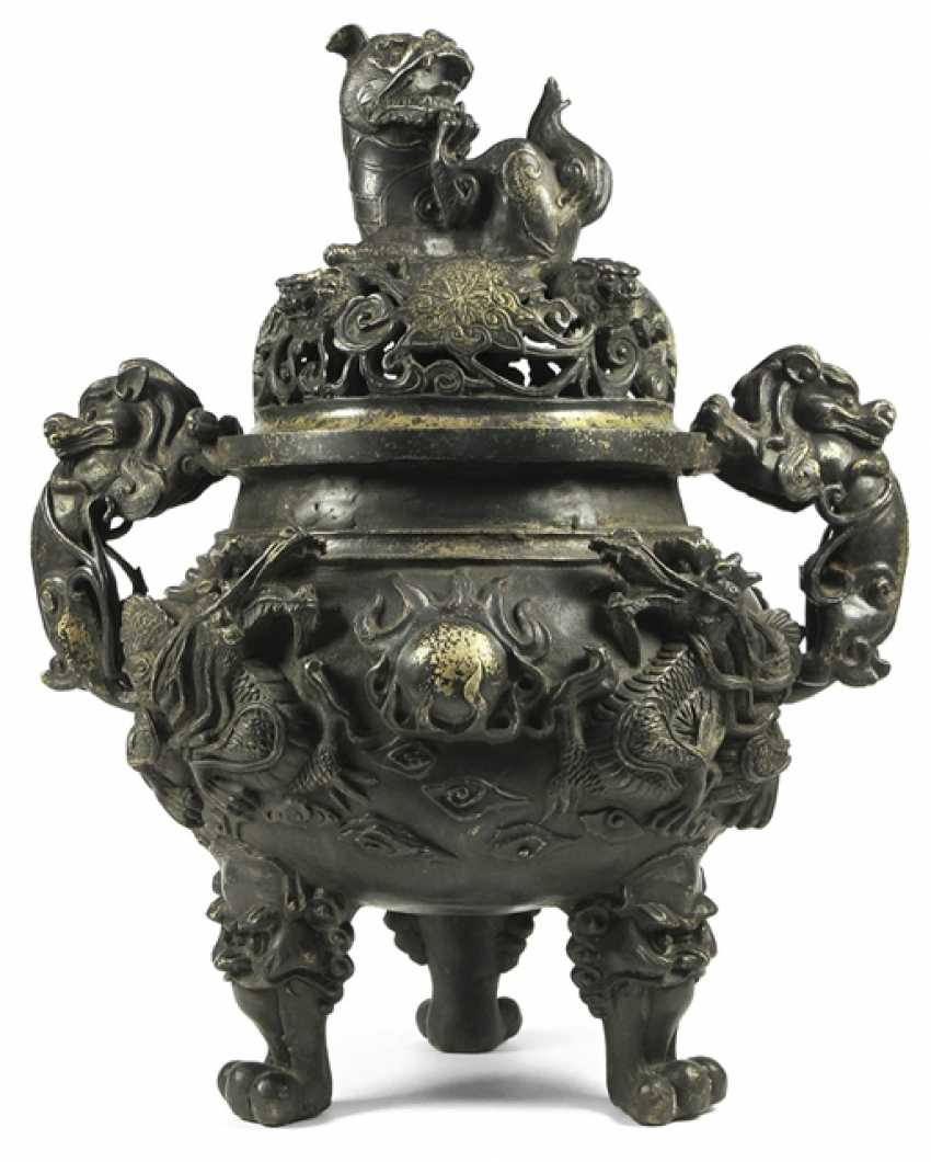 Incense burner, Bronze with remains of gilding - photo 1