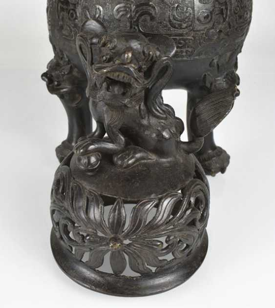 Incense burner Ding shape with lid - photo 3