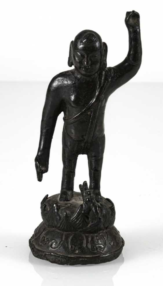 Bronze of the Buddha as a boy on a Lotus - photo 2