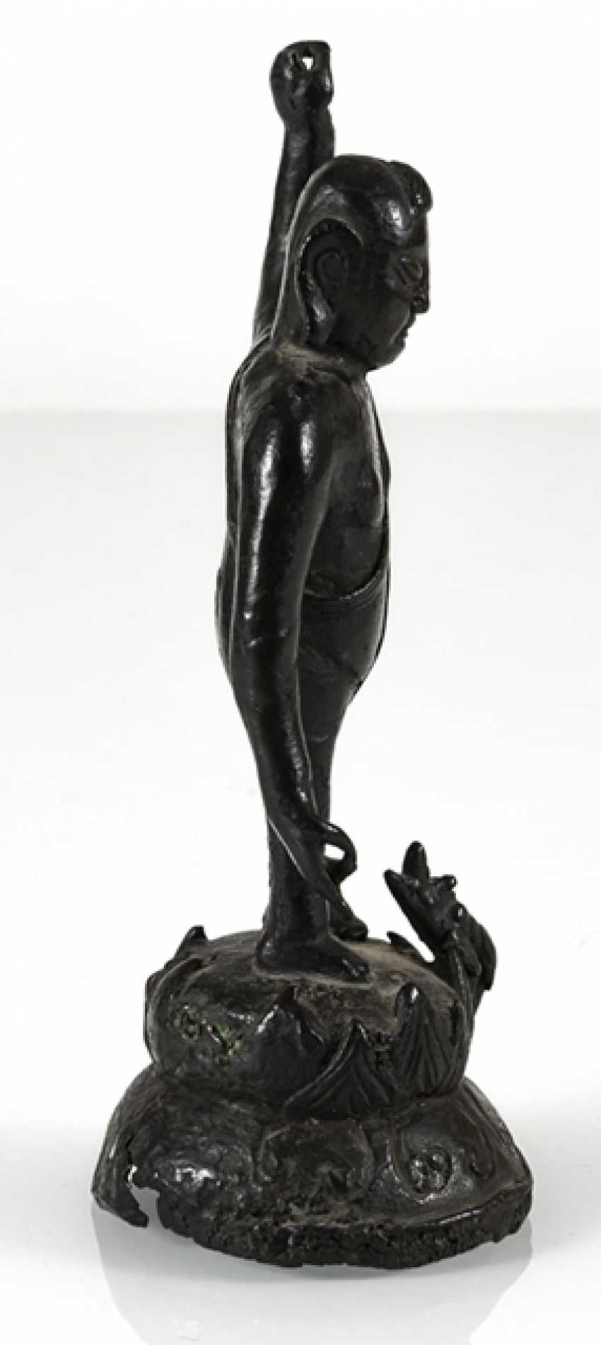 Bronze of the Buddha as a boy on a Lotus - photo 3
