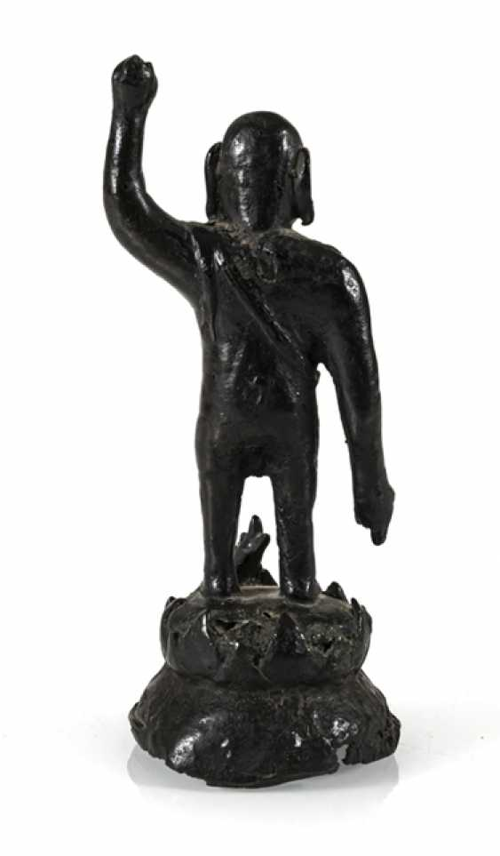 Bronze of the Buddha as a boy on a Lotus - photo 4