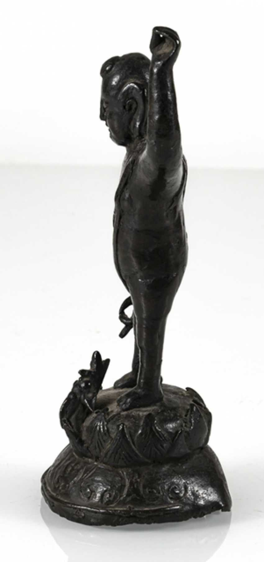 Bronze of the Buddha as a boy on a Lotus - photo 5