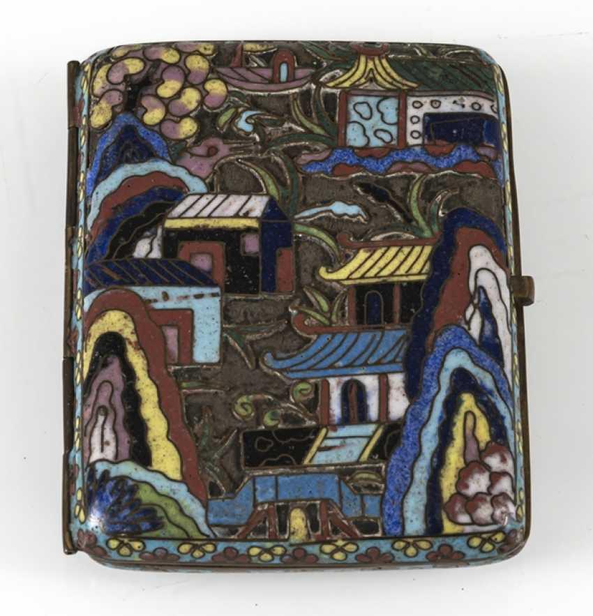 Cigarette case with Cloisonné-decor - photo 2