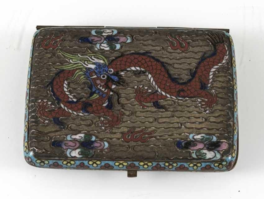 Cigarette case with Cloisonné-decor - photo 4