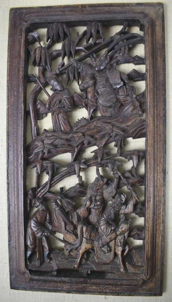 Five carved panels, some with gold lacquer - photo 3