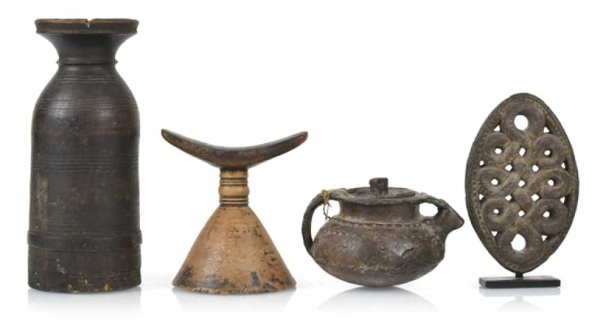 Two vessels, an Ornament on a Stand and a prayer roll stand - photo 1