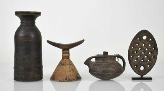 Two vessels, an Ornament on a Stand and a prayer roll stand - photo 2