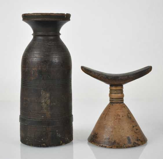 Two vessels, an Ornament on a Stand and a prayer roll stand - photo 4