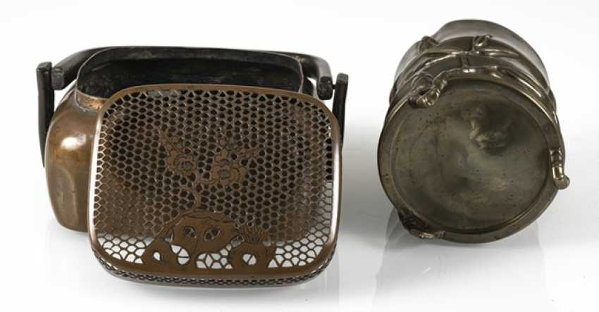 Hand-warmer made of copper, and paint cups in the shape of a bamboo segment from Bronze - photo 7