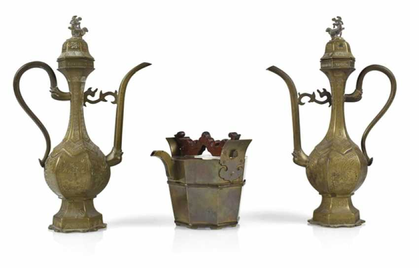 Three Brass Jugs - photo 1