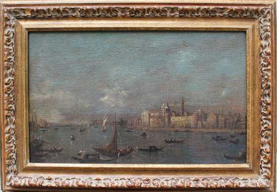 Francesco Guardi (1712-1793)-follower, Venice with boats and gondolieri - photo 1