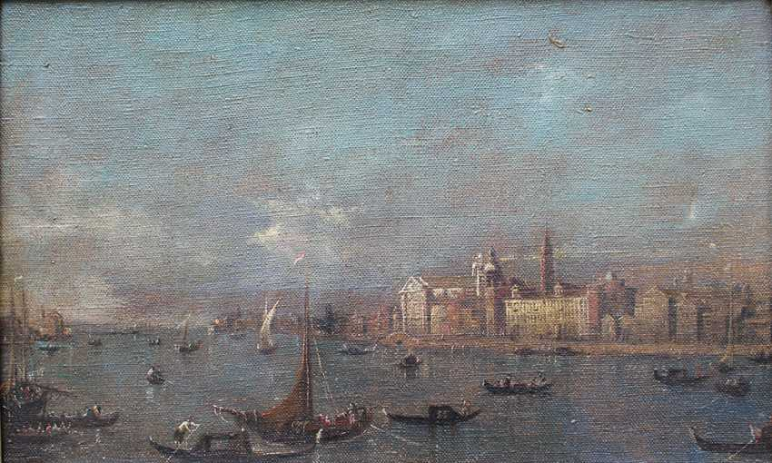 Francesco Guardi (1712-1793)-follower, Venice with boats and gondolieri - photo 2