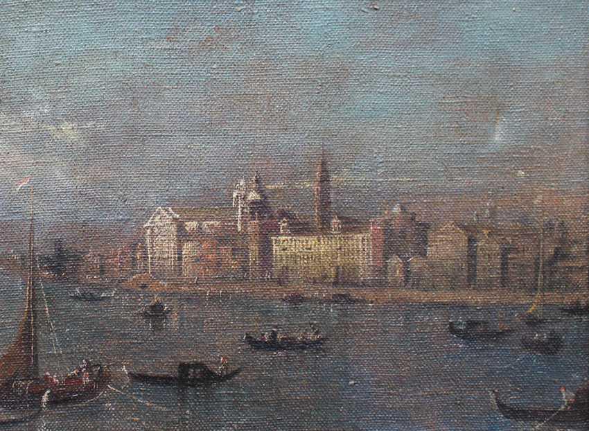 Francesco Guardi (1712-1793)-follower, Venice with boats and gondolieri - photo 3